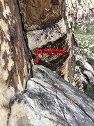 Rock Climbing Photo: Second (Burlesque) rappel, Option B.