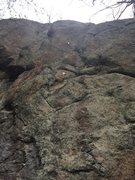 Rock Climbing Photo: Bolted line on Roadside Cliff.