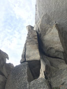 Rock Climbing Photo: P1 Leaning Block... splitter