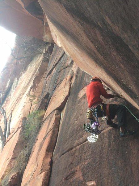 Rock Climbing Photo: Surachet (Add) Kongsigh on his redpoint attempt.