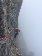 Rock Climbing Photo: Fog on Prime Rib