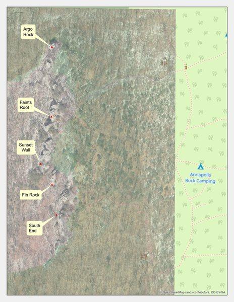 Annapolis Rocks Map (Sat Img)