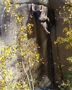 Bouldering Urinary Tract a few years ago. Once you make it to the horizontal crack, it's fun to traverse left into water groove tube if you don't feel like free soloing.