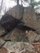 Rock Climbing Photo: Weetamoo (Tombstone Boulders) - W33.