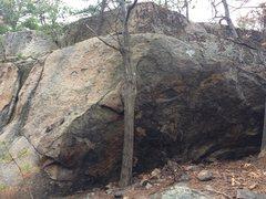 Rock Climbing Photo: Summit Boulder 2 - Right End.
