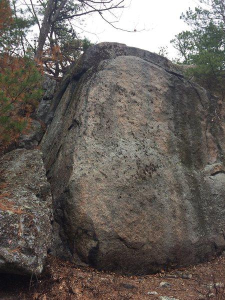 Rock Climbing Photo: Summit Boulder 2 - Left End.