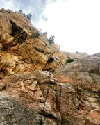 Rock Climbing Photo: Beginning of King Under the Mountain.
