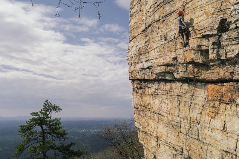 Nice spring climbing at the Gunks.