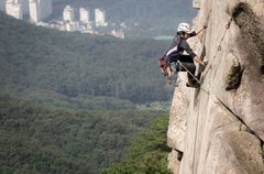 "Rock Climbing Photo: ""Lightning Crack"", or at least that'..."