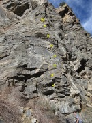 Rock Climbing Photo: I got 7 bolts, though the 5th one was hard to see ...