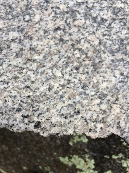This is a close up of the granite you see around here.