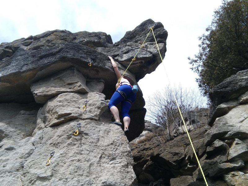 Rock Climbing Photo: One of my buddies seconding this route.
