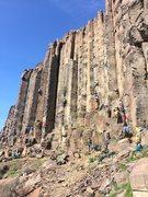 Rock Climbing Photo: Spring break city at Sunshine Wall, Vantage