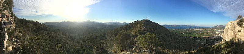 Pano view from the crag