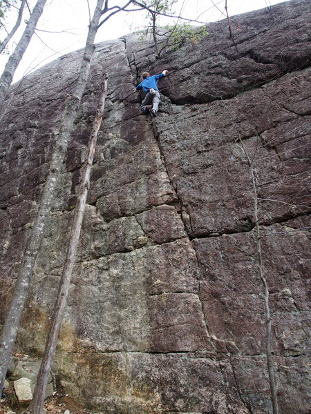 "Rock Climbing Photo: Unknown climber soloing ""Std Crack"""