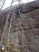 """Rock Climbing Photo: Unknown climber soloing """"Std Crack"""""""