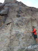 Rock Climbing Photo: Collin flaking the rope under Lawless and Free