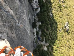 Rock Climbing Photo: View down from the chains