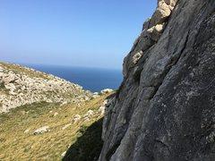 Rock Climbing Photo: View to the NE, towards Cap Formentor