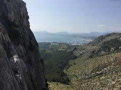Rock Climbing Photo: View of Port de Pollenca from the anchors