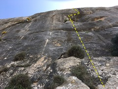 Rock Climbing Photo: The line just to the right of Records de Bunyola