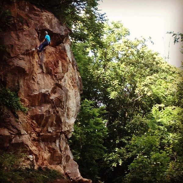 Kelly Brown cleaning his route, Carcosa.  2016.