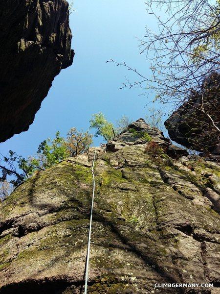 Rock Climbing Photo: Blockgrat, start of pitch 1.