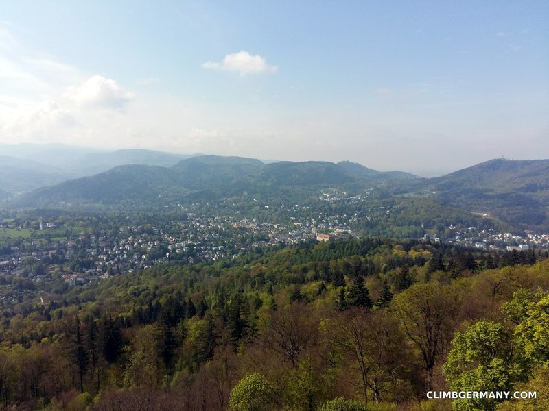 View of Baden-Baden from the top.