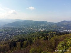 Rock Climbing Photo: View of Baden-Baden from the top.