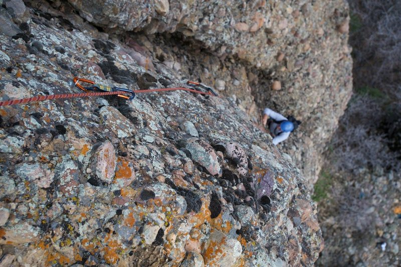 Virgil Ash on the first ascent