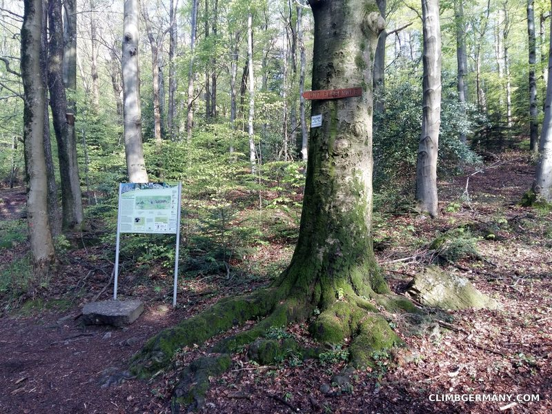 Rock Climbing Photo: Signs and map next to the little hut. You can take...