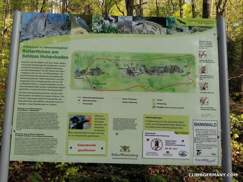Rock Climbing Photo: Map of the crags/area which is also popular with h...