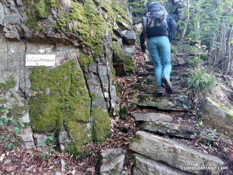 "Rock Climbing Photo: ""Einsiedler Pfad"" (Hermits way) up towar..."