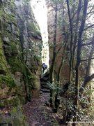 Rock Climbing Photo: Path to Blockgrat, Beckerturm, Wasswerwand, Villno...
