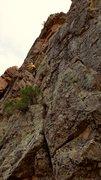 Rock Climbing Photo: Matt Johnson on the first ascent near the crux. St...