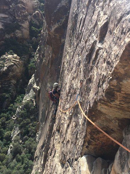 Rock Climbing Photo: no way its .10 but still a very fun traverse!