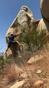 Rock Climbing Photo: It's a reachy one for me