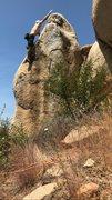 Rock Climbing Photo: Going for the bird poo jug