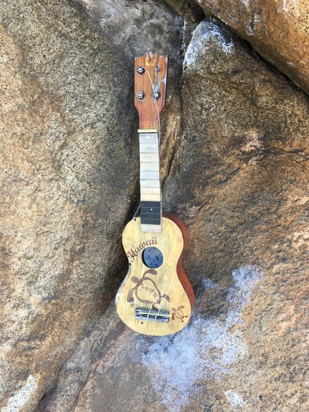 The reason for the name. Found this old uke at the base of the boulder.