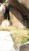 Rock Climbing Photo: Fun crack climb at the main route area. Still a bi...