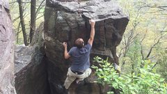 Rock Climbing Photo: Tom Finishing it up.