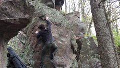 Rock Climbing Photo: Gettin' intimate with the arete.
