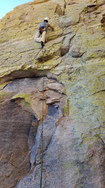 Rock Climbing Photo: Ravinder Singh on the FA of the new line we put up...
