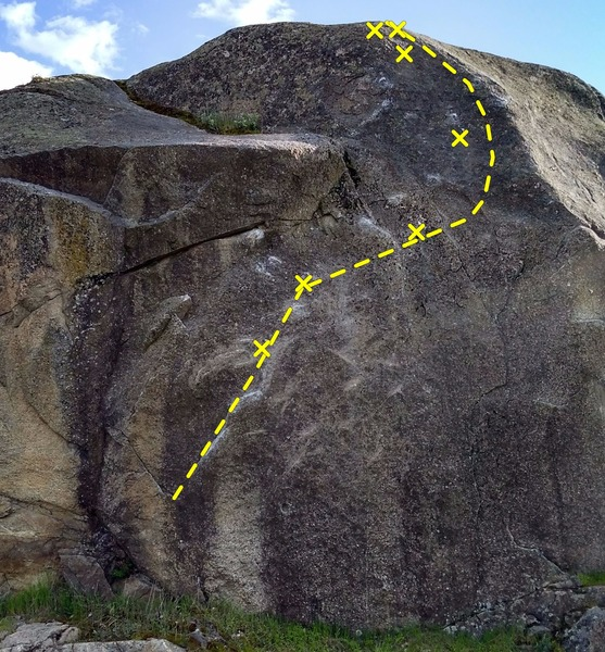 Rock Climbing Photo: Insecurity Issues is the 5 bolt line on the left. ...
