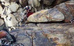 Rock Climbing Photo: Leading partway up Disney World.  26 Apr 2017.