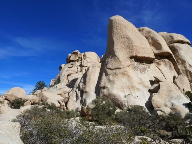Freak Brothers Dome from the trail, Joshua Tree NP