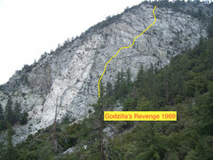 Rock Climbing Photo: A route Ray Palmer and I did in 1968-69.