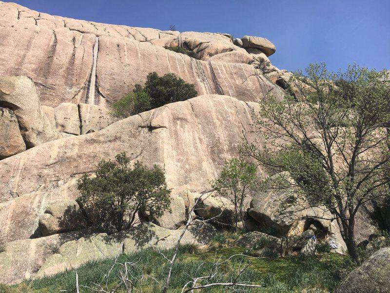 Rock Climbing Photo: Right side of the main face, Cancho de los Brezos.