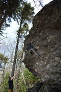 Rock Climbing Photo: Eastbound & Down. Jacob with the 2nd ascent!