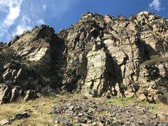 Rock Climbing Photo: Winter Wall - Left